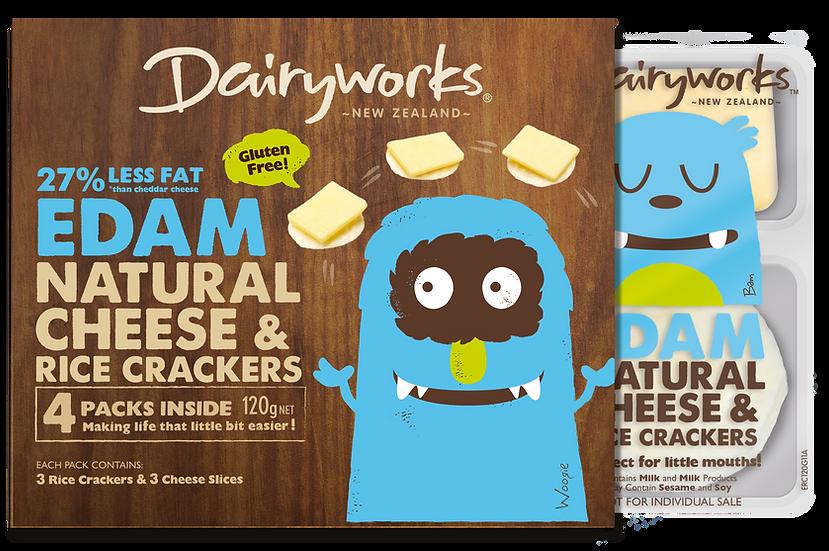 Edam Natural Cheese & Rice Crackers 120g