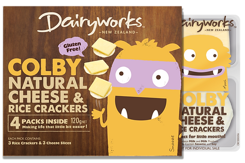 Colby Natural Cheese & Crackers 120g