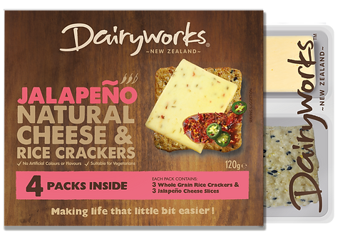 Dairyworks Jalapeno Natural Cheese & Crackers