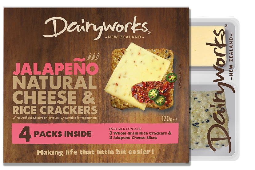 Dairyworks Jalapeno Cheese & Crackers 120g