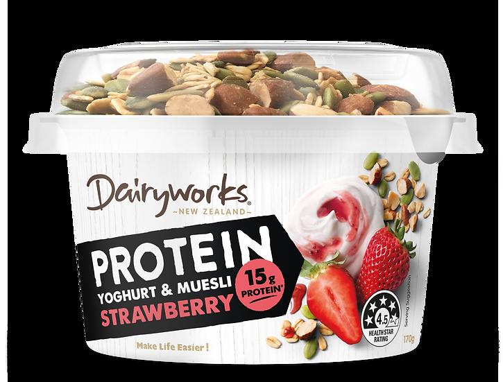 Dairyworks Protein Yoghurt & Muesli Strawberry 170g