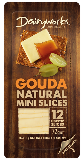 Dairyworks Gouda Natural Mini Slices 72g