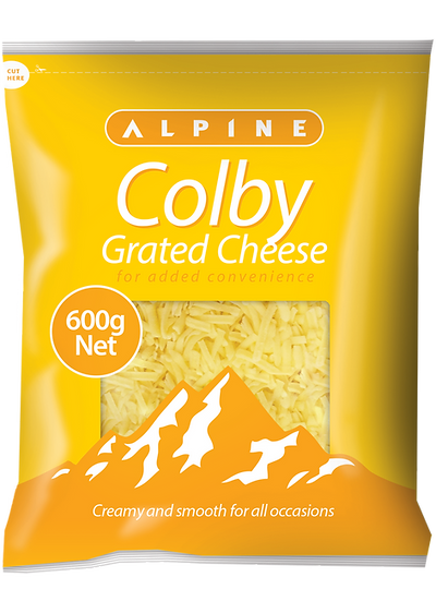Alpine Colby Grated 1kg / 600g
