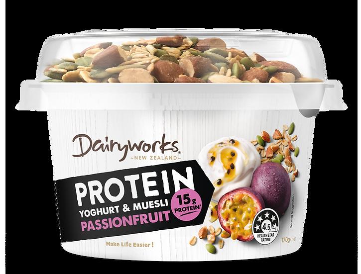 Dairyworks Protein Yogurt & Muesli Passionfruit 170g