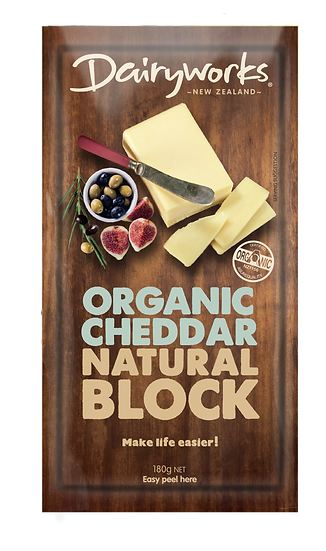 Organic Cheddar Natural Block 200g