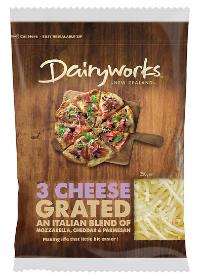 Dairyworks 3 Cheese Grated 250g