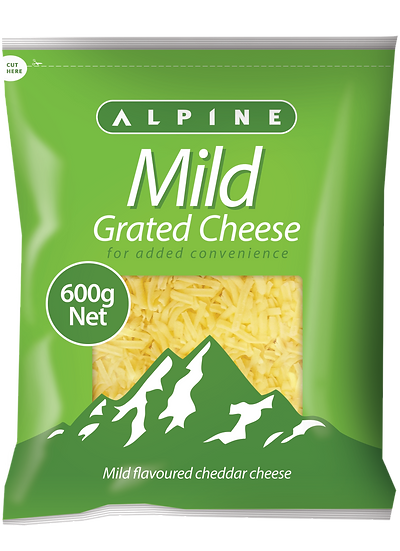 Alpine Mild Grated 1kg / 600g