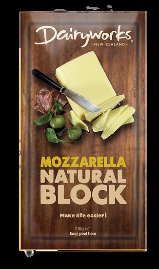 Mozzarella Natural Block 210g