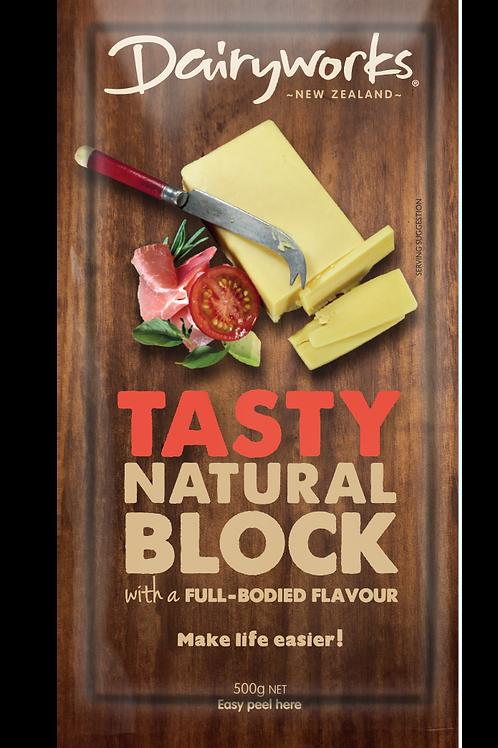 Dairyworks Tasty Natural Block 500g