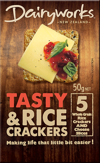 Dairyworks Tasty Cheese Crackers 50g