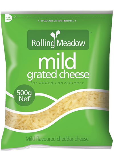 Rolling Meadow Mild Grated 1kg / 500g