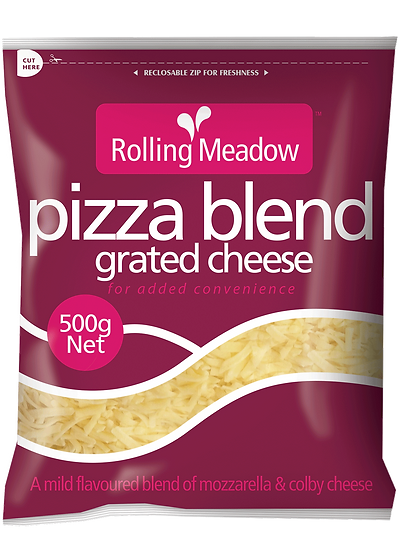 Rolling Meadow Pizza Blend Grated 1kg / 500g