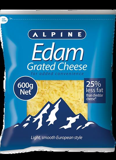 Alpine Edam Grated 1kg / 600g