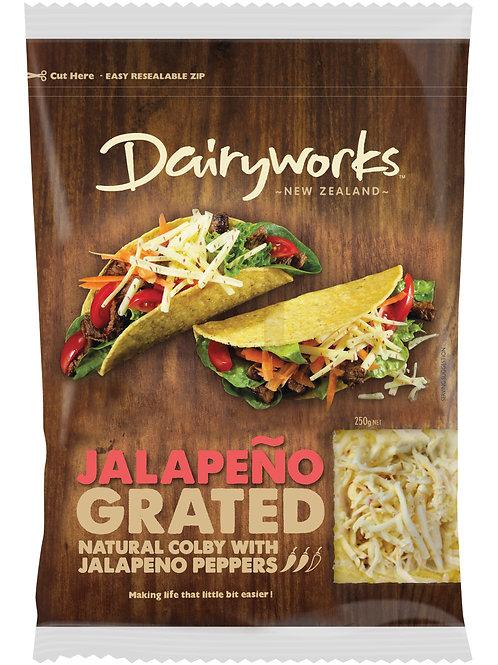 Dairyworks Jalapeno Grated 250g