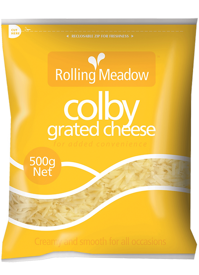 Rolling Meadow Colby Grated 1kg / 500g