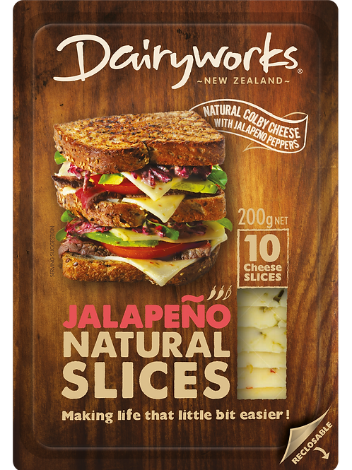 Dairyworks Jalapeno Natural Slices 200g