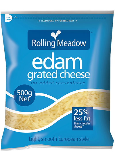 Rolling Meadow Edam Grated 1kg / 500g / 400g