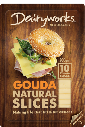 Dairyworks Gouda Natural Slices 200g
