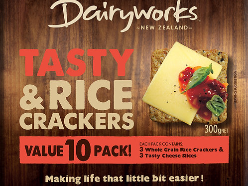 Dairyworks Tasty Cheese & Crackers 10 Pack