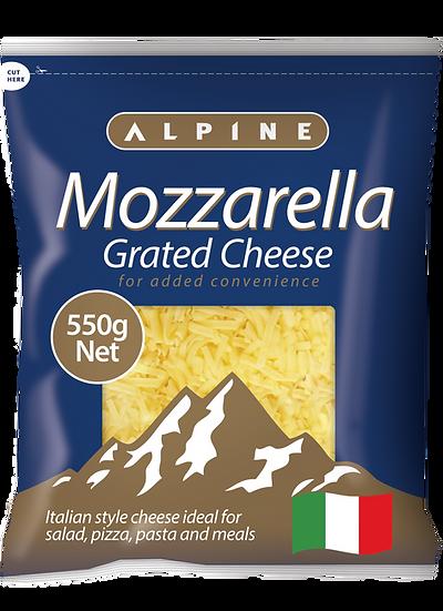 Alpine Mozzarella Grated 1kg / 550g