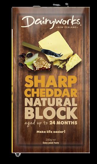 Sharp Cheddar Natural Block 200g