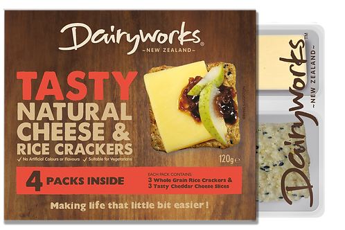 Dairyworks Tasty Natural Cheese & Crackers 120g