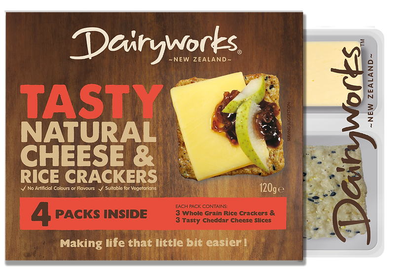 Dairyworks Tasty Cheese & Crackers 120g