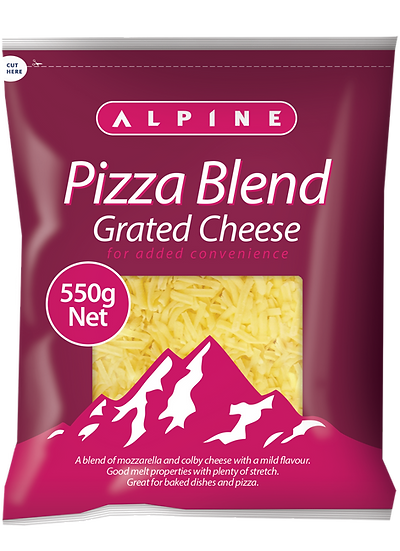 Alpine Pizza Blend Grated 1kg / 550g