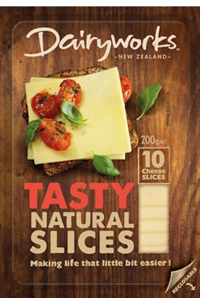 Dairyworks Tasty Natural Slices 200g
