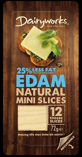 Dairyworks Edam Natural Mini Slices 72g
