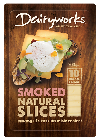 Dairyworks Smoked Natural Slices 200g