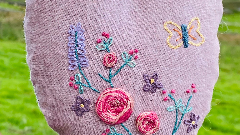 Stitched Lavender Heart