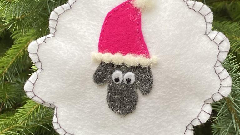 Christmas Sheep Hanging Ornament!
