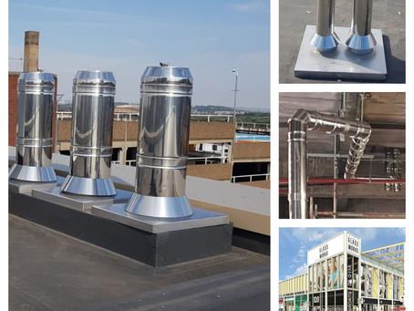 Barnsley Glassworks Flue Design, Supply & Installation