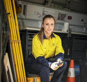 apprentice on worksite
