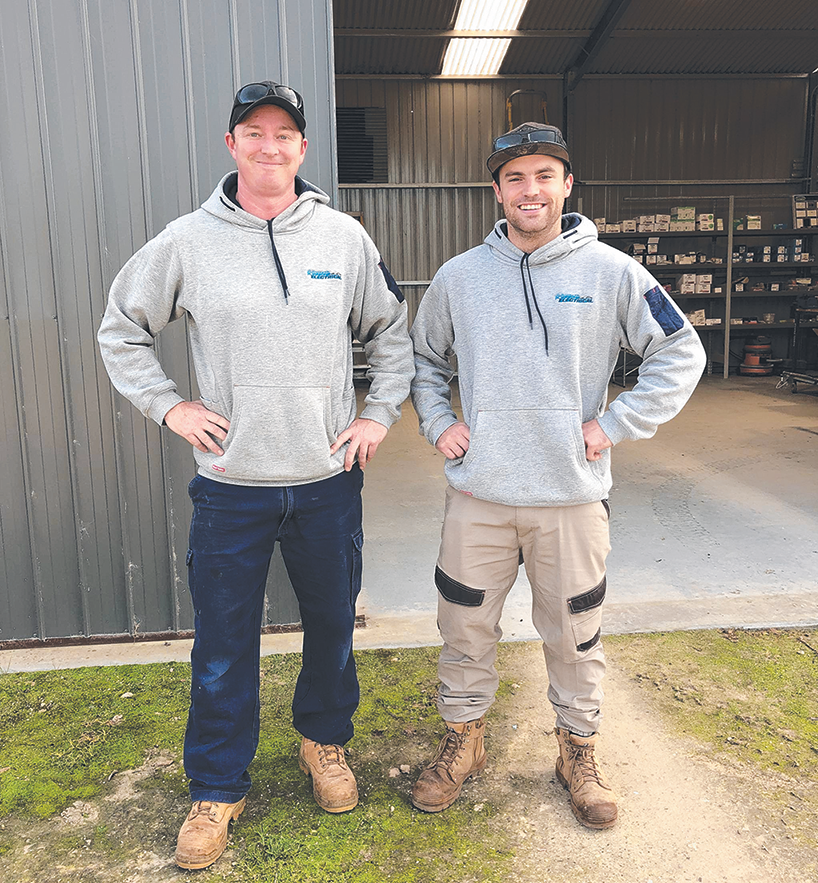 Business owner and apprentice