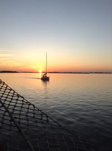 Por do Sol na Laguna dos Patos