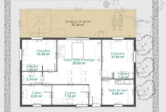 Maison Ossature Bois 76 m2