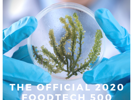 Excited to be chosen from over 2000 AgriFoodTech applicants for the 2020 FoodTech 500!