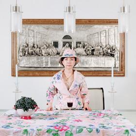 손이숙, 와인과 저녁식사, 아카이벌 피그먼트 프린트, 106×106cm,