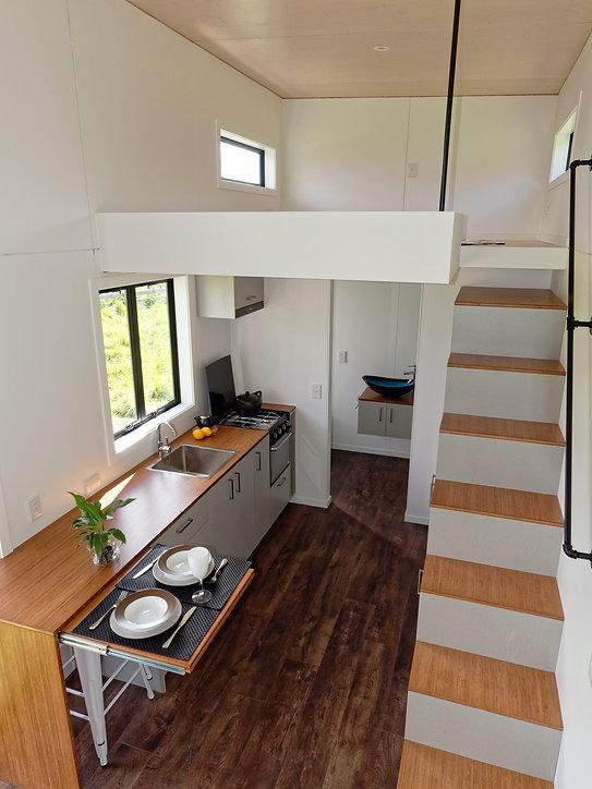 the VOGUE kitchen & stair storage by miHAUS