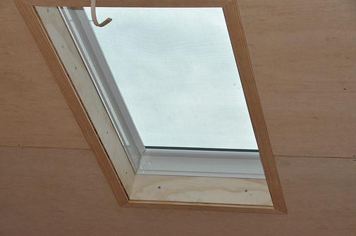 the CAMDEN tiny house opening skylight