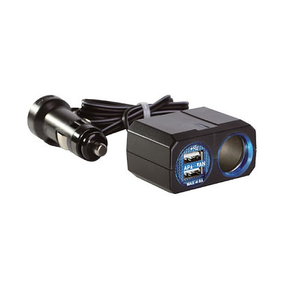 PZ-709 With Cable One Socket Dual USB 4.8A
