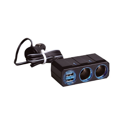 PZ-711 With Cable Twin Sockets Dual USB 4.8A