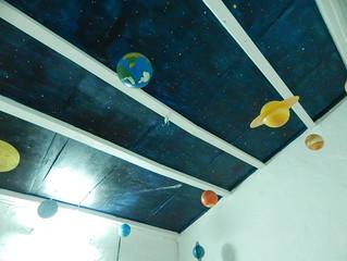 Réalisation d'un Astro-plafond... direction le pays imaginaire !