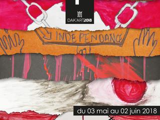 Affiche de l'expo des élèves de Jeanne d'Arc pour le OFF de la biennale des Arts de Dakar 20