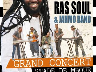 Affiche et T-shirt du concert de MAM-J et le Jahmo Band, à Mbour, le 1er avril prochain...