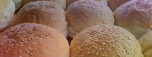 freshly baked sesame seed buns
