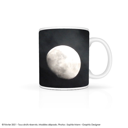 "Mug ""Zoom on the moon"""