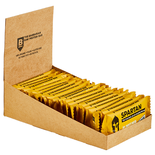 Box of 22 The BarBarian Spartan LEMON - 30% protein raw bar